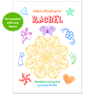 Personalized Book with Affirmations for Kids & Affirmation Coloring Pages