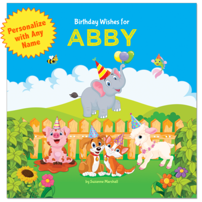 Birthday wishes for kids, birthday poems for kids, personalized book, personalized gift, gift for kids.