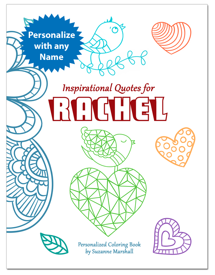 Inspirational Quotes For Kids Personalized Coloring Book