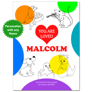 You Are Loved - Positive Coloring Pages & Personalized Book