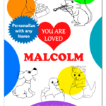 You Are Loved / Coloring Books for Kids / Personalized Children's Books