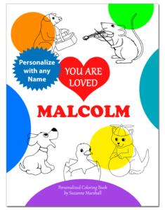 You Are Loved: Personalized Book with Inspirational Coloring Pages