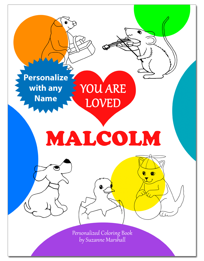 You Are Loved Personalized Coloring Book With Love Poems For Kids
