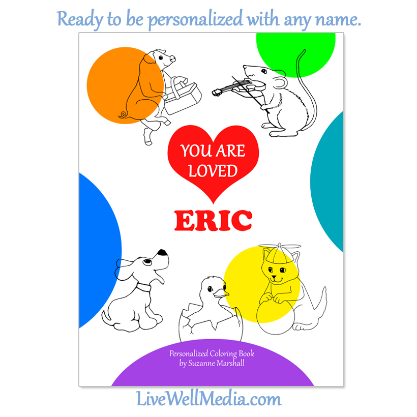 personalized coloring book you are loved