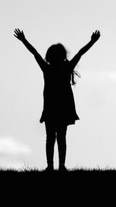 Girl Prayer to Sky