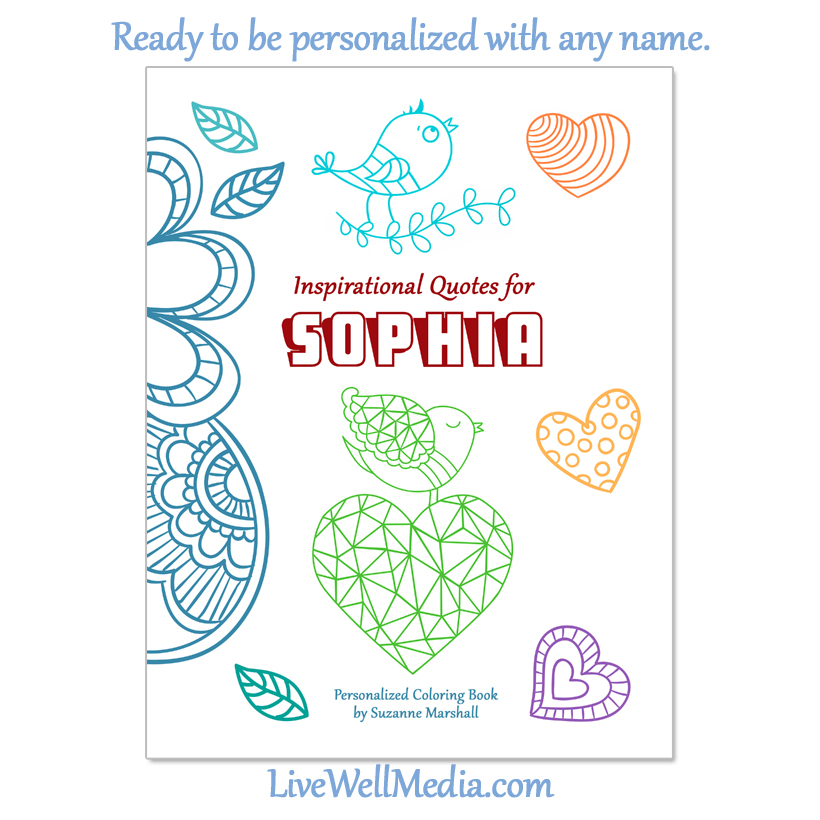 personalized coloring book inspirational quotes for kids