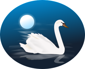 Bedtime illustration of swan